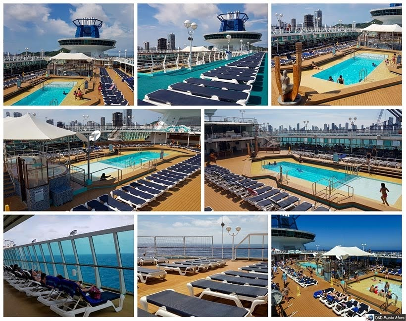 Piscinas do Navio Monarch, Pullmantur - Diário de Bordo: cruzeiro pelo Caribe