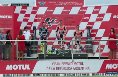 Marquez Juarai MotoGP Argentina, Rossi Kedua, Lorenzo Gagal Finis