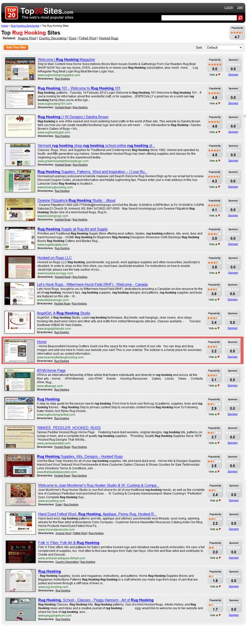 Top 20 Sites