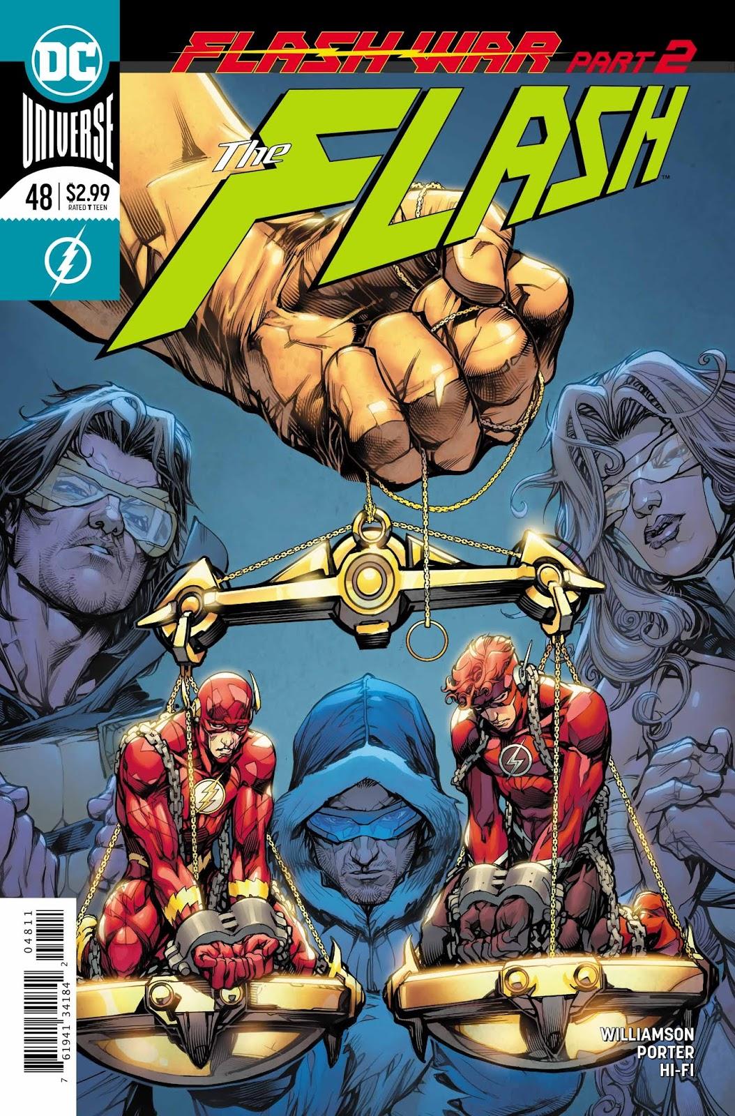 Capa de The Flash #48 por Howard Porter.