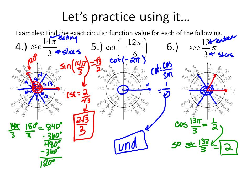 Ms. Hale's Math Page: Trig: 3/21-3/22: 3-3 The Unit Circle