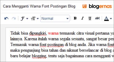 Cara Mengganti Warna Font Postingan Blog