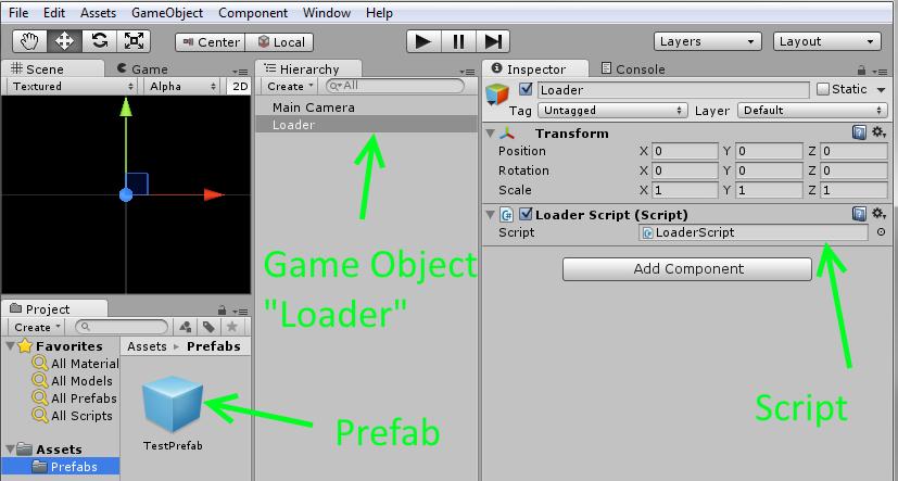 codingtrabla: Unity3D & prefab: instantiate prefab in script