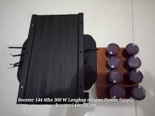 Booster 144 Mhz Tabung 300 W Lengkap dengan Power Supply Tinggal Colok Listrik