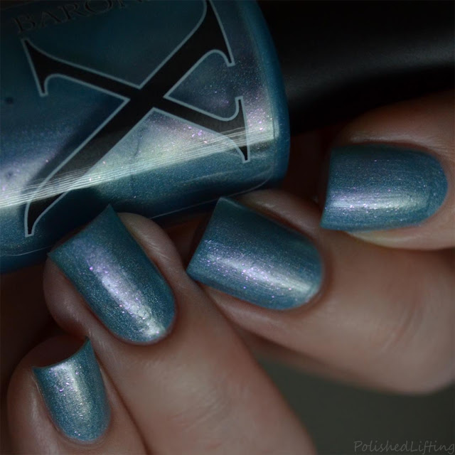 blue holo nail polish