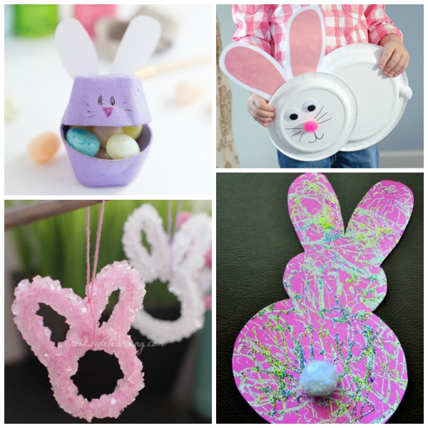 36 BUNNY CRAFTS FOR KIDS. Such cute ideas!  Pinning for later