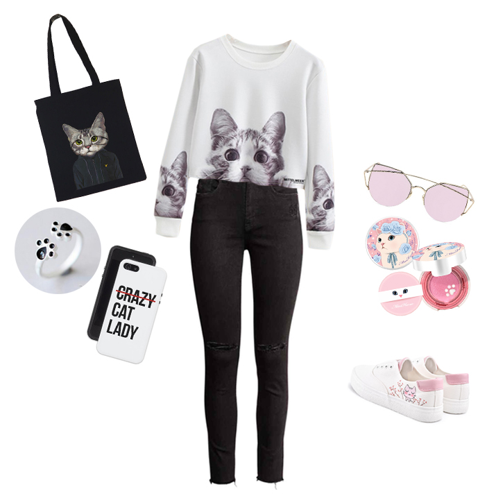 swiss fashion blogger cat lady outfit selection trend