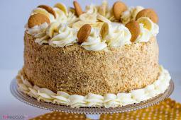 Banana Cream Cake #recipe #cheesecake