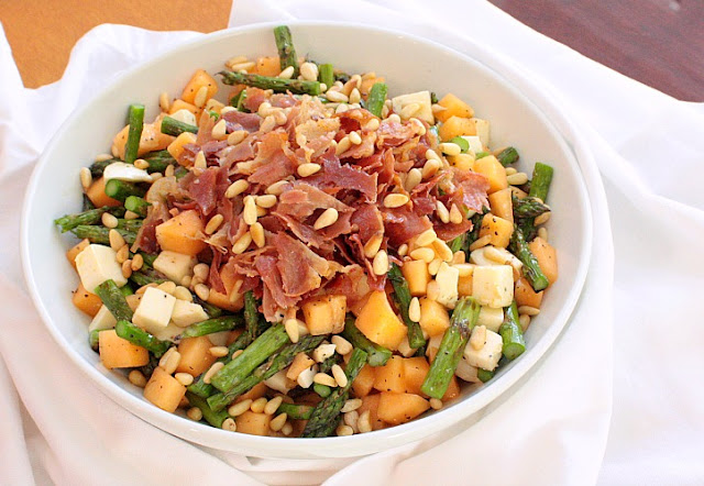 asparagus melon salad