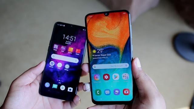 مقارنة شاملة بين هاتفي Samsung Galaxy A30 و Realme 3