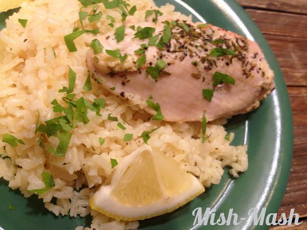 Лимоново пиле с ориз