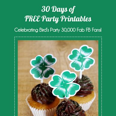 Free Printable Shamrock Cupcake Party Toppers