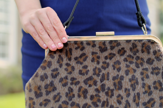 Sourpuss Betsy leopard print bag