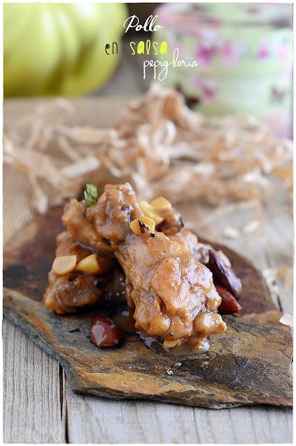 Pollo en salsa pepigloria