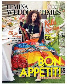 Kalki Koechlin on the cover of Femina Wedding Times magazine June 2017