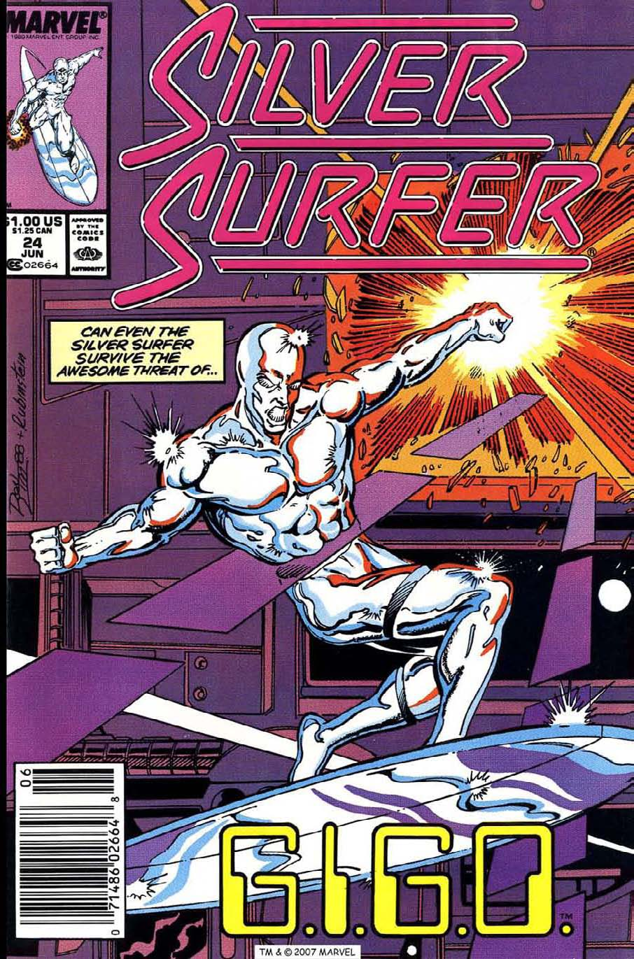 Read online Silver Surfer (1987) comic -  Issue #24 - 1
