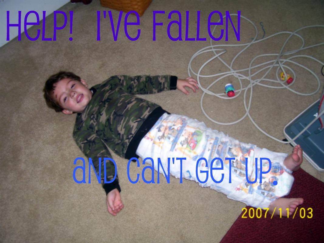 wordless wednesday help i ve fallen crazy kids kids creative chaos