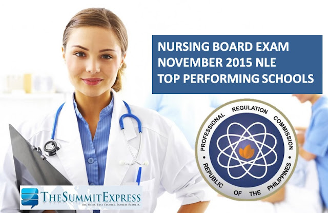 Top performing schools, performance of schools November 2015 NLE