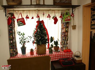 窓クリスマス飾り