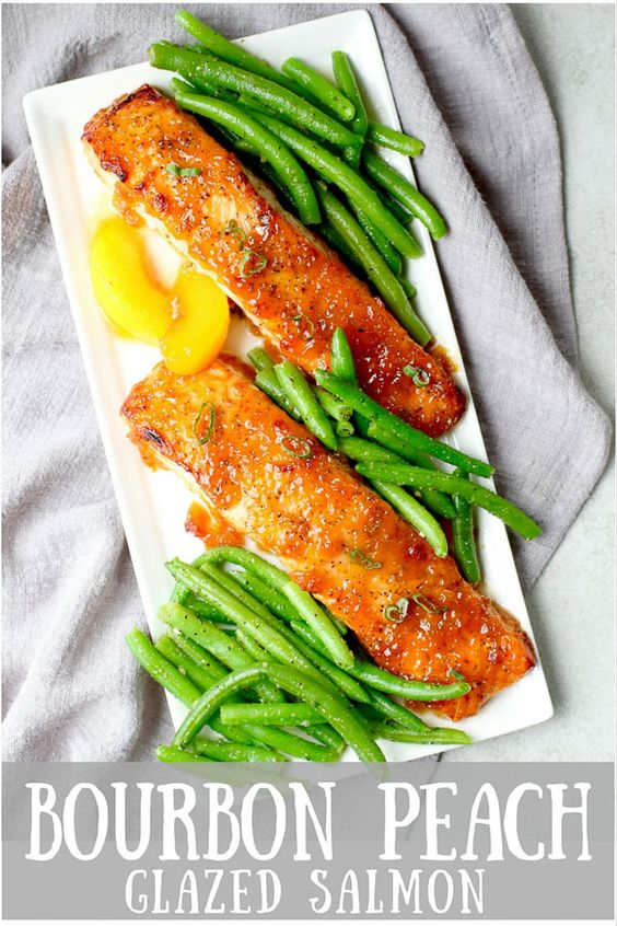 Bourbon Peach Glazed Salmon