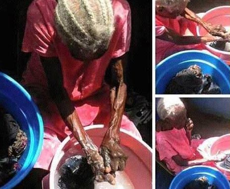 Photos: 103-year-old Woman Washing Her Own Clothes By Herself Goes Viral