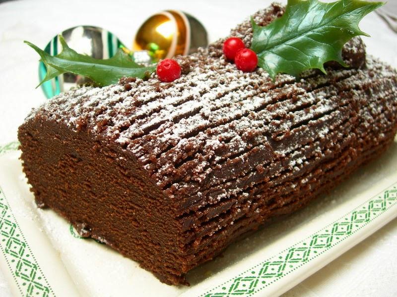 Κορμός κάστανο με σοκολάτα (χριστουγεννιάτικος)