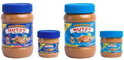 Delicious Nutzy Peanut Spread: Tasty Creamy Smooth and Crunchy Butter - 510g and 227g Jars - Naija Grocery