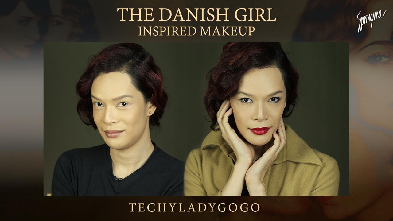 THE DANISH GIRL INSPIRED MAKEUP แต่งหน้าตามหนังเดอะ เดนนิช เกิร์ล แต่งหน้าย้อนยุค กระเทยแต่งหน้า