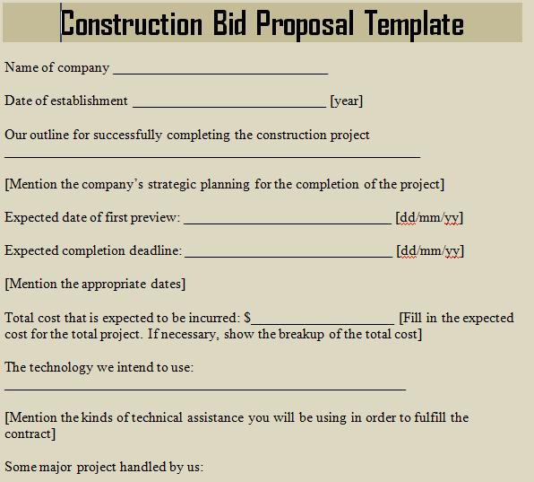 Construction Company Contract Template – Free Construction Contracts Templates