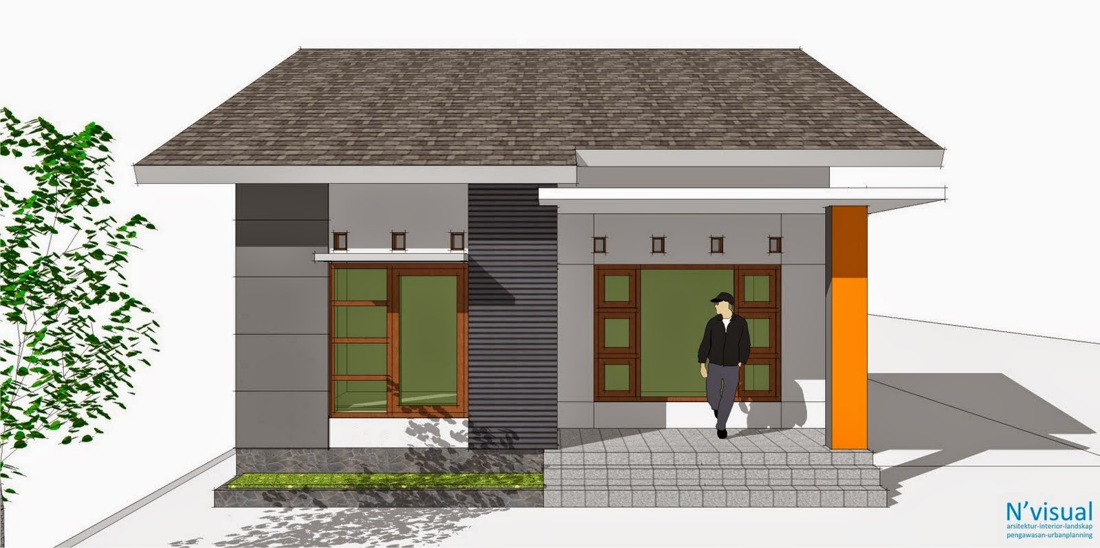 Gambar Desain Rumah Tanah Persegi Panjang House Q