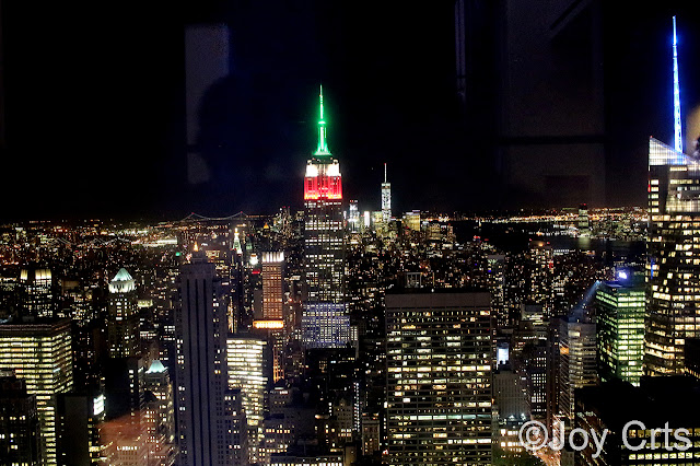 Panorama sur l'empire state building depuis le top of Rock New York