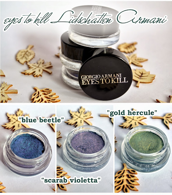 Armani Kaleidoscope LE eyes to kill eye shadow BLUE BEETLE, SCARAB VIOLETTA & GOLD HERCULE