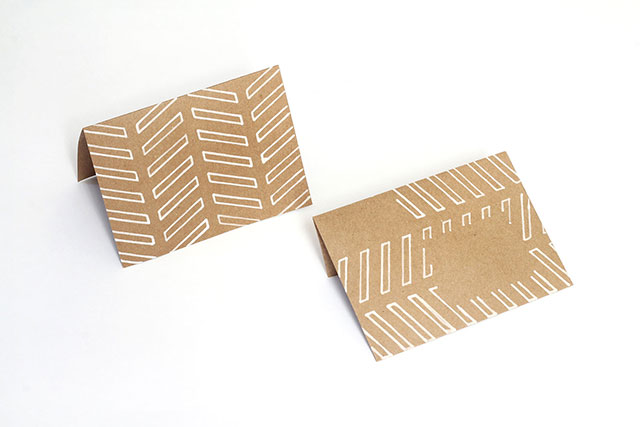 Matching kraft paper notecards & envelopes - supplies from JAM Paper