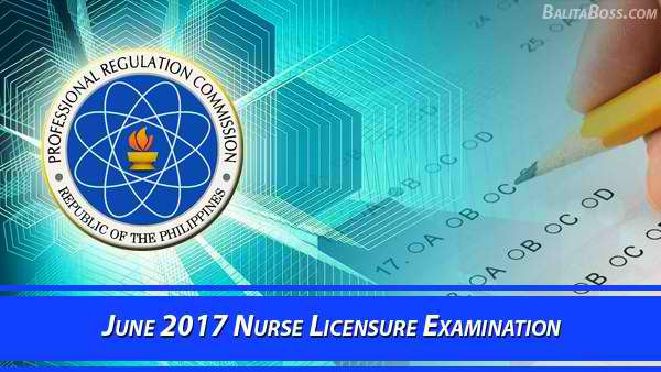 Nurse June 2017 Board Exam
