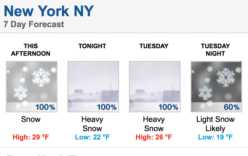 Roosevelt Islander Online: NYC Blizzard Coming Today And Tomorrow
