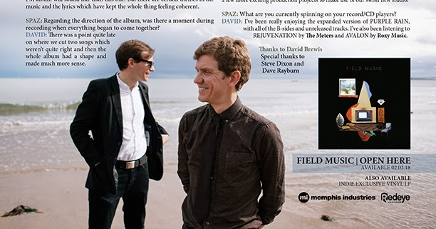 Discussions Magazine Music Blog: FIELD MUSIC: An EXCLUSIVE