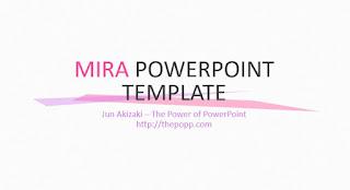 Template Powerpoint Keren Mira byJun Akizaki