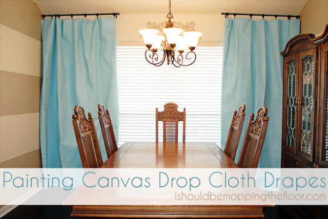 I Should Be Mopping The Floor Painting Drop Cloths For Drapes