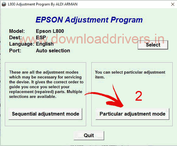 epson l1300 service adjustment program download