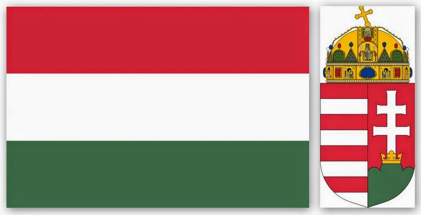 Флаг и герб Венгрии