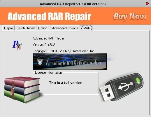 Advanced RAR Repair v1.2 [Portable][Repara archivos comprimidos y recupera contraseñas de RAR]