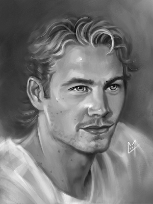 Paul Walker portrait 2
