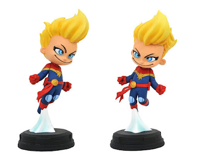 Captain Marvel Animated Marvel Mini Statue by Skottie Young x Gentle Giant x Diamond Select Toys