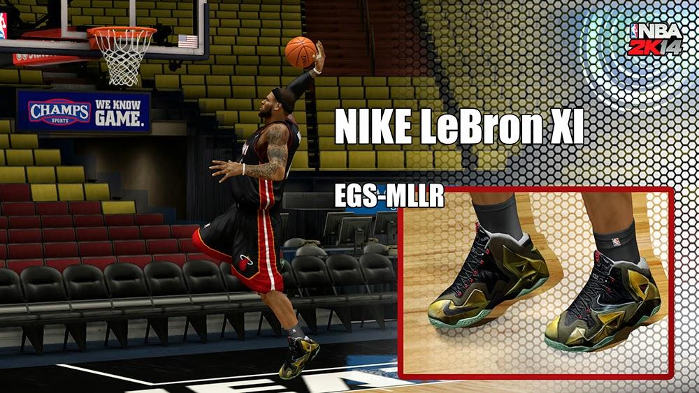 644bf91b69ae NBA 2K14 Nike LeBron XI Shoes Patch - NBA2K.ORG