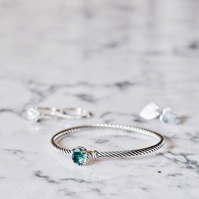 david yurman bracelet on marble countertop