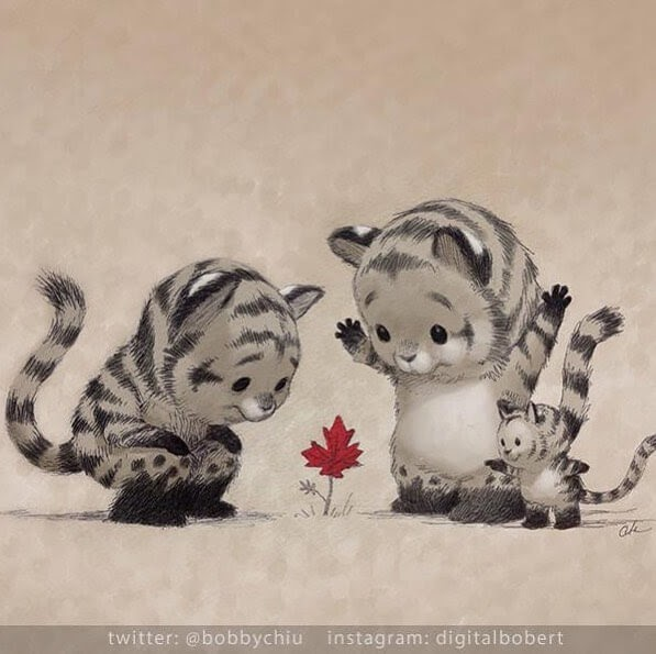 06-Baby-Tigers-Bobby-Chiu-Fantasy-www-designstack-co