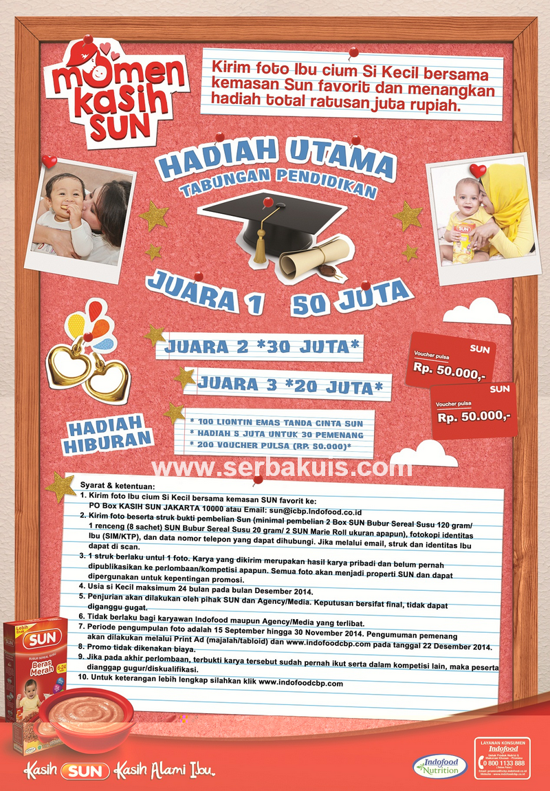 Kontes Momen Kasih SUN Berhadiah Utama Uang 50 JUTA Rupiah