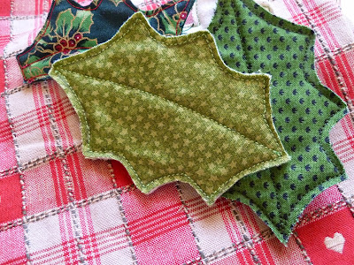 Fabric leaves from Cartwheels Craft Centre course