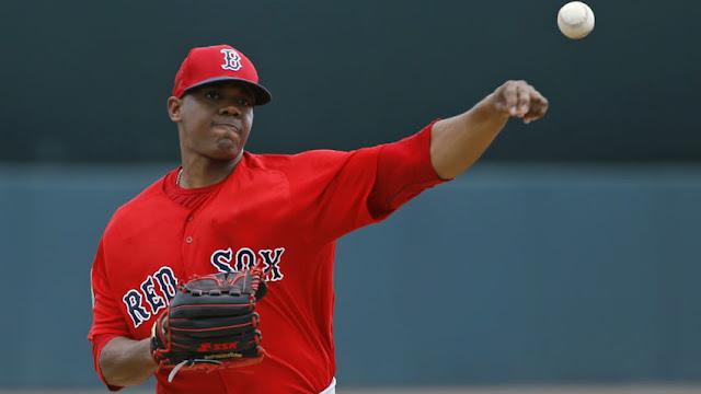 El guantanamero Elías, promesa de los Medias Rojas de Boston, retiró a los primeros 16 bateadores que enfrentó Foto: Patrick Semansky