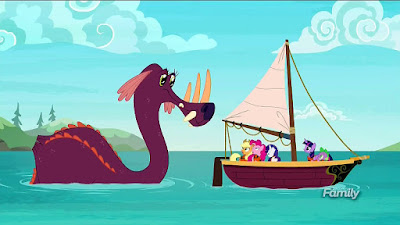 The Tri-Horned Bunyip appears to the ponies